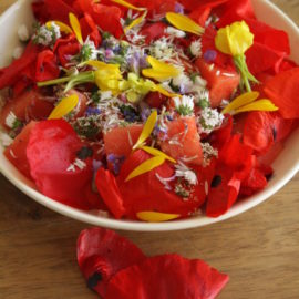Erotik pur: Wassermelonen-Blüten-Salat
