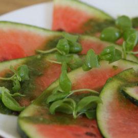 Aromatisches Wassermelonen-Carpaccio